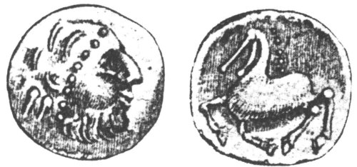 CCI-971051: An Iron Age Tetradrachm from DORSET NULL Celtic Coin Index reference:  97.1051