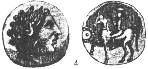 CCI-971054: An Iron Age Tetradrachm from DORSET NULL Celtic Coin Index reference:  97.1054