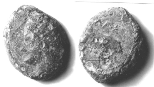 CCI-990014: An Iron Age Bronze unit from KENT Massillia Celtic Coin Index reference:  99.0014