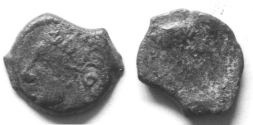 CCI-990685: An Iron Age Bronze unit from ESSEX Arverni Celtic Coin Index reference:  99.0685