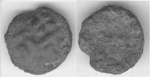 A resized image of An Iron Age Copper alloy stater from DORSET Durotriges Celtic Coin Index reference:  99.0895
