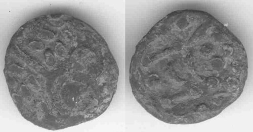 A resized image of An Iron Age Silver stater from DORSET Durotriges Celtic Coin Index reference:  99.0899