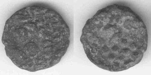 CCI-9909: An Iron Age Copper alloy stater from DORSET Durotriges Celtic Coin Index reference:  99.09
