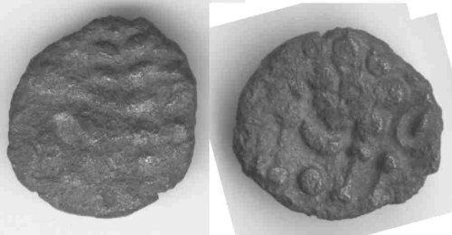 CCI-990904: An Iron Age Silver stater from DORSET Durotriges Celtic Coin Index reference:  99.0904