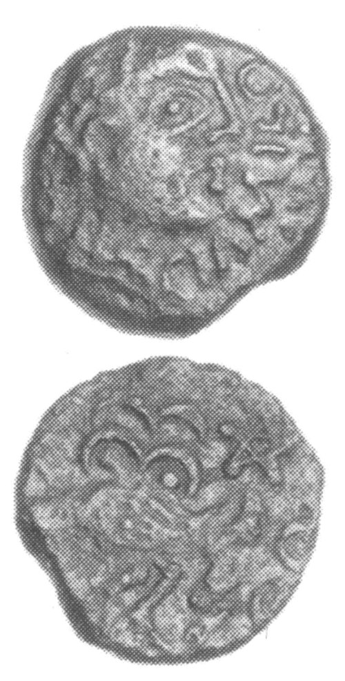 CCI-991245: An Iron Age Bronze unit from SURREY Senones Celtic Coin Index reference:  99.1245