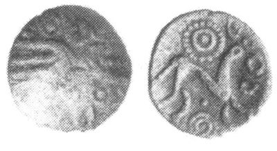 CCI-991251: An Iron Age Half unit from HAMPSHIRE Atrebates Celtic Coin Index reference:  99.1251