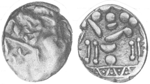 A resized image of An Iron Age Gold stater from NULL Atrebates Celtic Coin Index reference:  99.1418