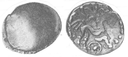 A resized image of An Iron Age Gold stater from NULL Atrebates Celtic Coin Index reference:  99.1421