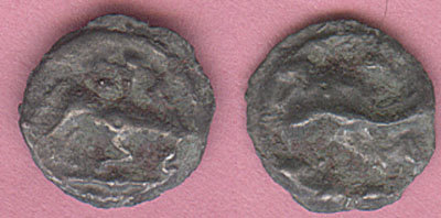 CCI-991699: An Iron Age Bronze unit from NULL Leuci Celtic Coin Index reference:  99.1699