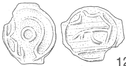 A resized image of An Iron Age Potin from NULL Cantii Celtic Coin Index reference:  99.1834
