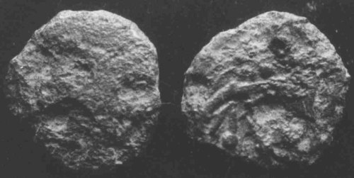 A resized image of An Iron Age Bronze unit from MONMOUTHSHIRE Uncertain Celtic Coin Index reference:  99.184
