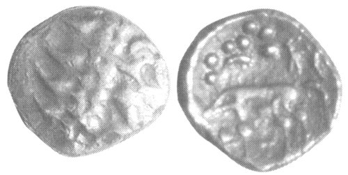 A resized image of An Iron Age Gold stater from NULL Iceni Celtic Coin Index reference:  99.1853