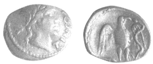 A resized image of An Iron Age Unit from SURREY of Tincomarus Atrebates Celtic Coin Index reference:  99.1889