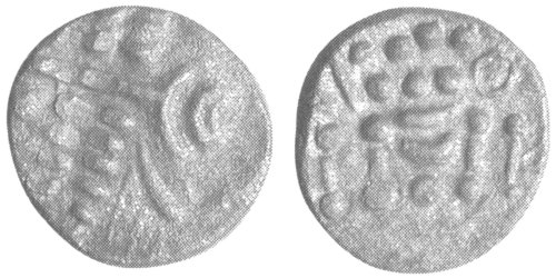 A resized image of An Iron Age Silver stater from NULL Durotriges Celtic Coin Index reference:  99.1921
