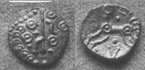 A resized image of An Iron Age Unit from NULL of Eisu Dobunni Celtic Coin Index reference:  99.1934