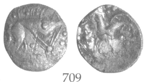 A resized image of An Iron Age Unit from NULL Iceni Celtic Coin Index reference:  99.1935
