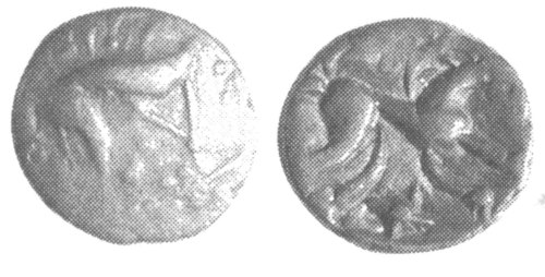 A resized image of An Iron Age Unit from NULL Iceni Celtic Coin Index reference:  99.1938