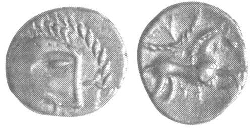 A resized image of An Iron Age Unit from NULL Iceni Celtic Coin Index reference:  99.1943