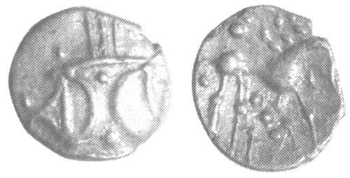 A resized image of An Iron Age Unit from NULL of Ece(n) Iceni Celtic Coin Index reference:  99.1945