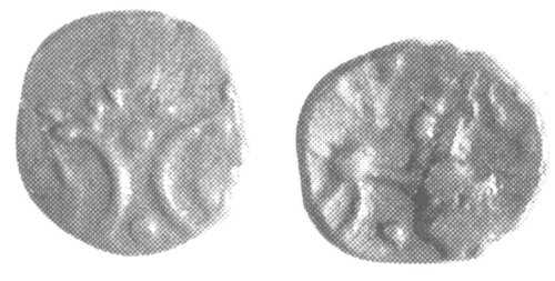 A resized image of An Iron Age Half unit from NULL Iceni Celtic Coin Index reference:  99.1946