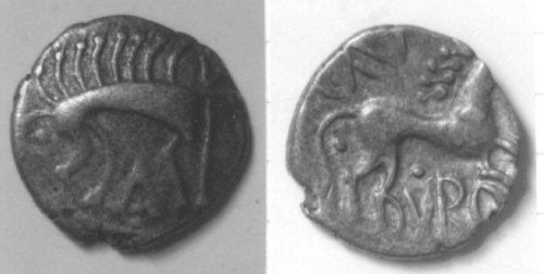 A resized image of An Iron Age Unit from NULL of CAN DVRO Iceni Celtic Coin Index reference:  99.1948