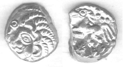 CCI-992023: An Iron Age Unit from NORTHAMPTONSHIRE Trinovantes Celtic Coin Index reference:  99.2023
