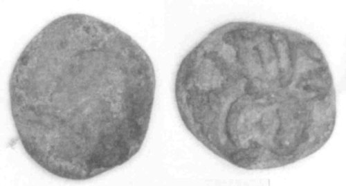 A resized image of An Iron Age Copper alloy stater from HEREFORDSHIRE Dobunni Celtic Coin Index reference:  99.2029