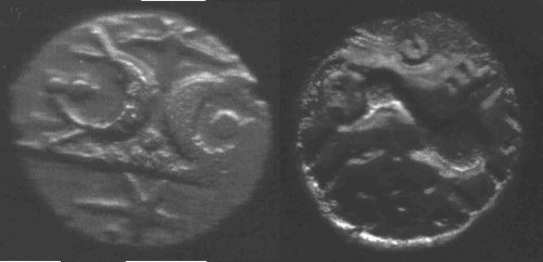 A resized image of An Iron Age Gold stater from NORFOLK Iceni Celtic Coin Index reference:  99.203