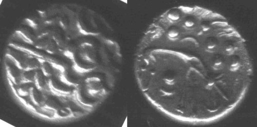 A resized image of An Iron Age Gold stater from NULL Iceni Celtic Coin Index reference:  99.2031