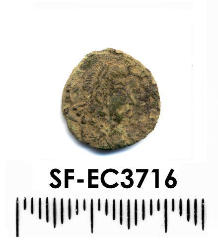 SF-EC3716: Roman Nummus obverse. House of Constantine 354-361.