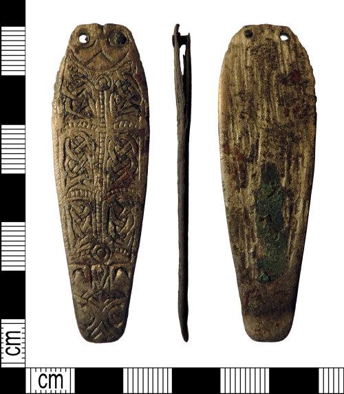 PAS-D7AF51: Early medieval silver strapend PAS-D7AF51