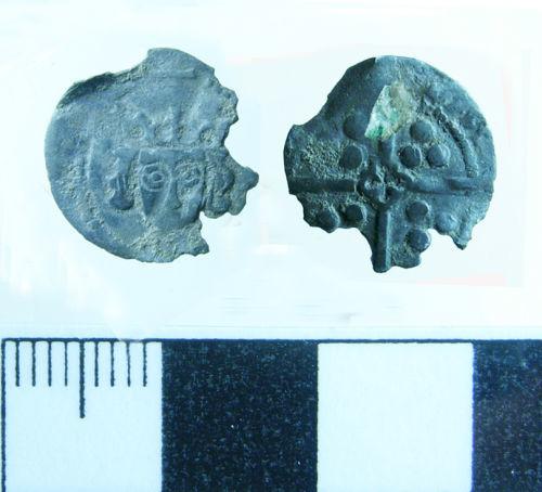BERK-4E9097: Medieval Coin: Clipped silver penny of Edward IV
