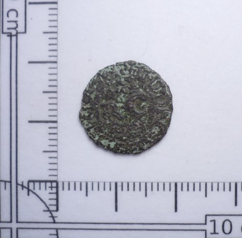 PUBLIC-28459F: Post-medieval trade token farthing of Richard Cheney of Dorchester, Dorset (reverse)