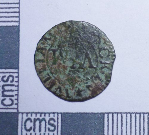 PUBLIC-285C88: Post-medieval trade token farthing of William Minck of Blandford, Dorset