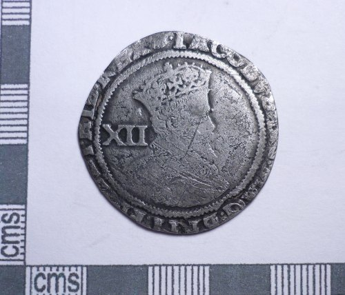 PUBLIC-2F2676: Post-medieval coin: Shilling of James I (obverse)