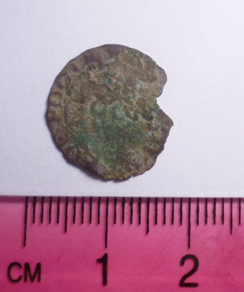PUBLIC-D9F413: Post-medieval trade token farthing issued by the town of Poole, Dorset (reverse)