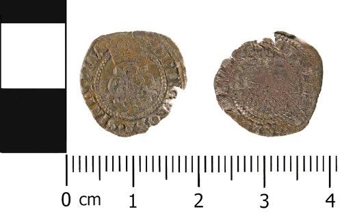 WMID-06D324: Post Medieval - Half Groat of James I