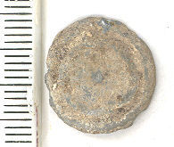 A resized image of A lead token, possibly dating to the 16th/ 17th century AD.