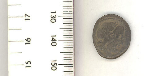 A resized image of The obverse of a Roman republican coin dating to 87 BC.