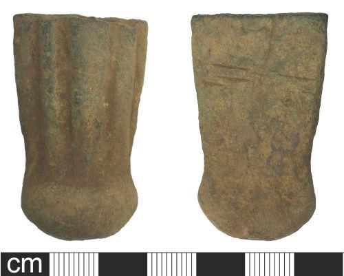 SOM-B9A805: Post Medieval Vessel Leg