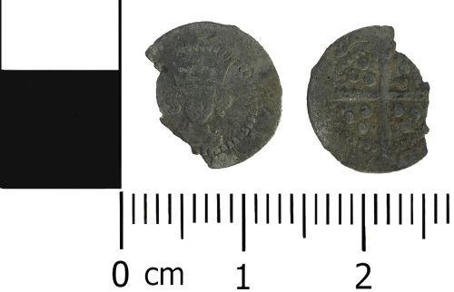 WMID-97F2AF: Medieval coin: Silver half penny of Edward IV