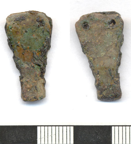 ESS-D2F964: Fragment of Early medieval strap end