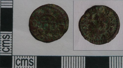A resized image of Post-medieval trade token farthing