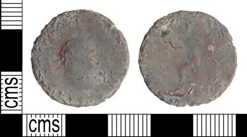 WILT-6D31D7: Medieval coin: Carasius radiate