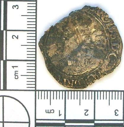 LANCUM-82301F: Post-medieval coin: Shilling of Charles I (obverse)