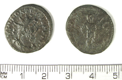LANCUM-D18300: Late Roman antoninianus of Postumus