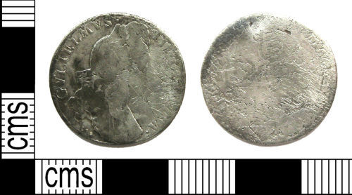 LANCUM-2F0405: Sixpence of William III dating from 1697