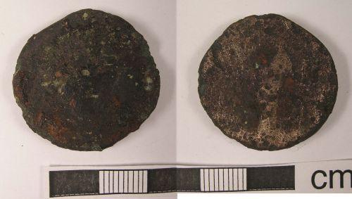 LANCUM-E4BD04: Clitheroe, Lancs.: Roman Coin