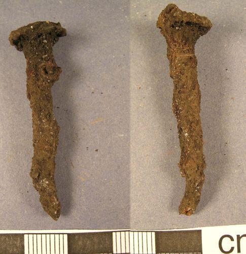LANCUM-9C5BE4: Roman iron nail (obv., rev.)