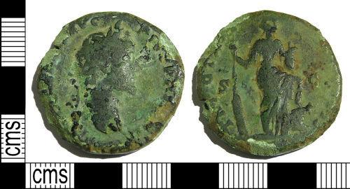 LANCUM-E5B3C5: Early Roman sestertius of Antoninus Pius